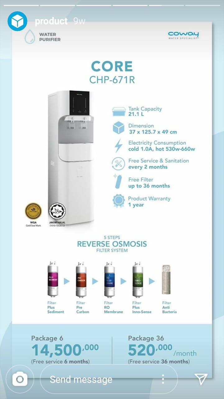 Sedia Produk Water Purifier