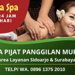 Jasa Pijat Panggilan Sidoarjo dan Surabaya Murah Bergaransi 24 Jam Terpercaya | WA. 0896 1375 2010