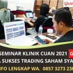 Rahasia Sukses Online Trading Saham Syariah | Seminar Gratis U -Live Academy  | WA. 0857 3273 2309